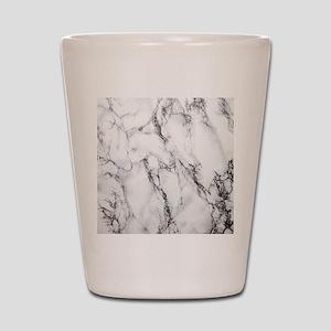 White Marble Shot Glass