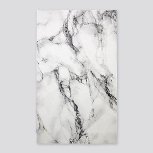 White Marble Area Rug
