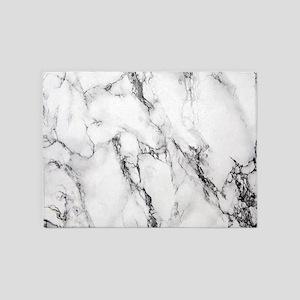 White Marble 5'x7'Area Rug