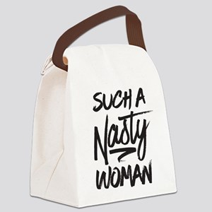 Clinton-Nasty Woman Canvas Lunch Bag