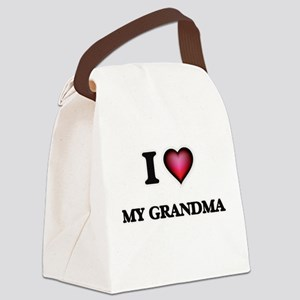 I Love My Grandma Canvas Lunch Bag