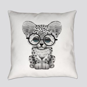 Cute Snow Leopard Cub Wearing Glasses Everyday Pil