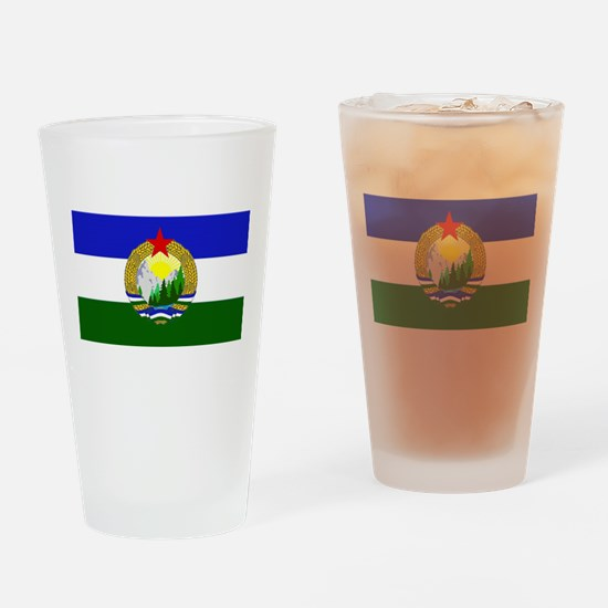 Flag of Socialist Cascadia Drinking Glass