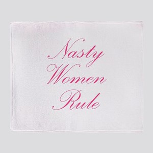 Nasty Women Rule Throw Blanket