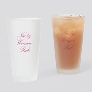 Nasty Women Rule Drinking Glass