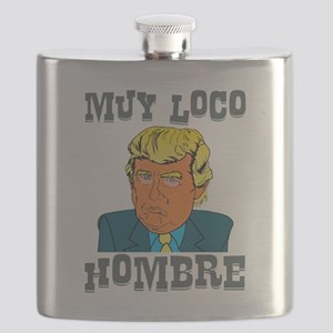 Muy Loco Hombre Flask