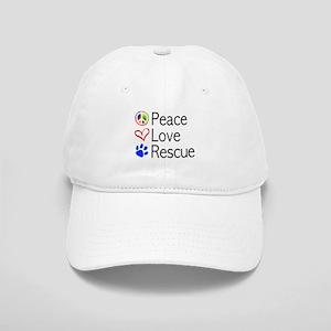 Peace Love Rescue Baseball Cap