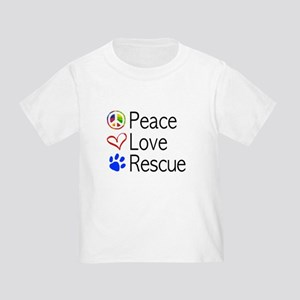 Toddler Peace Love Rescue T-Shirt