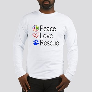 Peace Love Rescue Long Sleeve T-Shirt