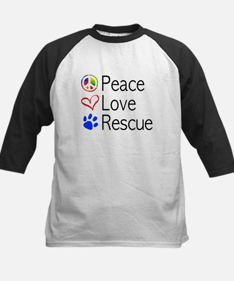 Kids Peace Love Rescue Baseball Jersey