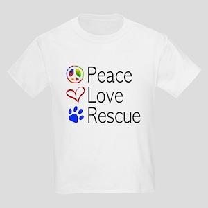 Kids Peace Love Rescue T-Shirt