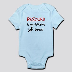 Rescued is my favorite breed Body Suit