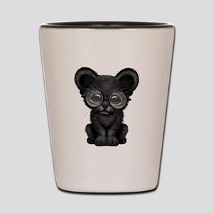 Cute Baby Black Panther Cub Wearing Glasses Shot G