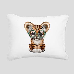Cute Baby Tiger Cub Wearing Glasses Rectangular Ca