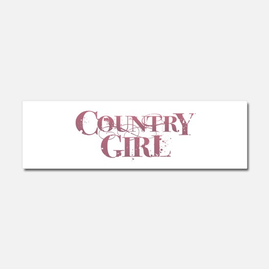 Country Girl Car Magnet 10 x 3