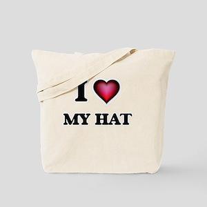 I Love My Hat Tote Bag
