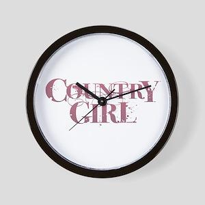 Country Girl Wall Clock