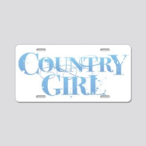Country Girl Aluminum License Plate