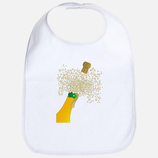 Bubbly Bottle And Cork Bib