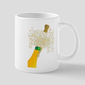 Bubbly Bottle And Cork Mugs