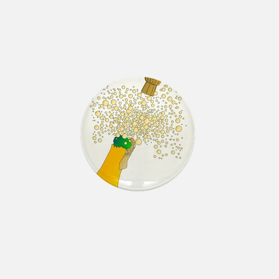 Bubbly Bottle And Cork Mini Button