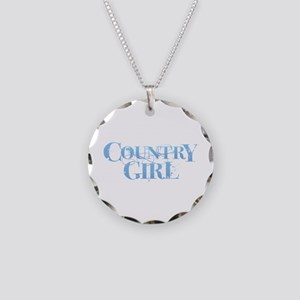 Country Girl Necklace Circle Charm