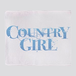 Country Girl Throw Blanket