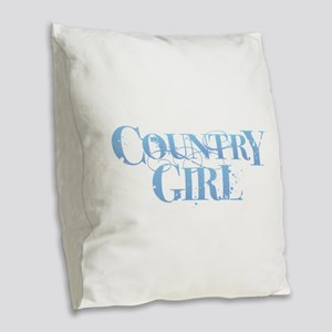 Country Girl Burlap Throw Pillow
