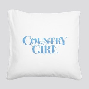 Country Girl Square Canvas Pillow