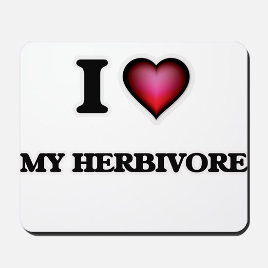 I Love My Herbivore Mousepad