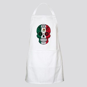Mexican Sugar Skull with Roses Apron