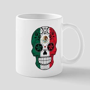 Mexican Sugar Skull with Roses Mugs