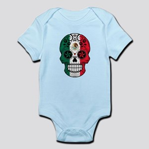 Mexican Sugar Skull with Roses Body Suit
