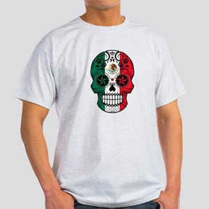Mexican Sugar Skull with Roses T-Shirt