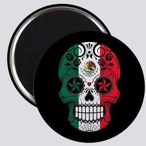 Mexican Sugar Skull with Roses Magnets