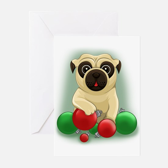 A Pug Christmas Greeting Cards (pk Of 20)