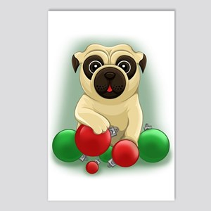 A Pug Christmas Postcards (Package of 8)