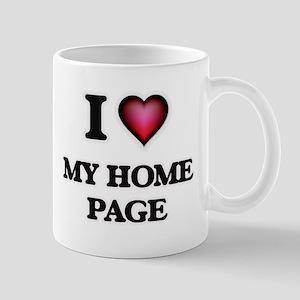 I Love My Home Page Mugs