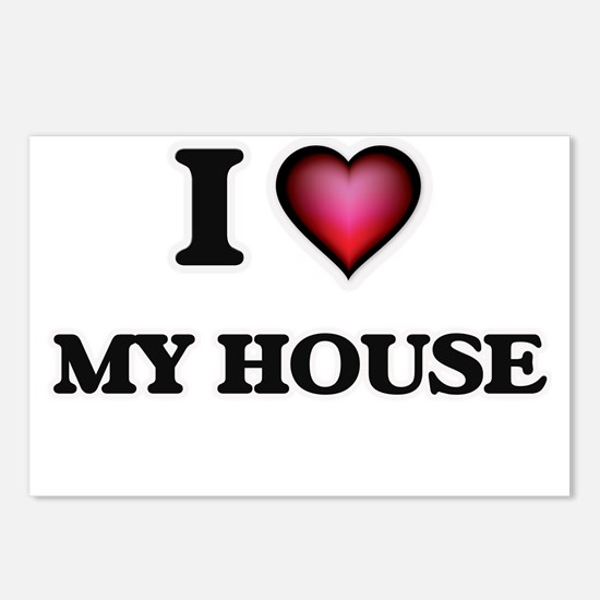 I Love My House Postcards (Package of 8)