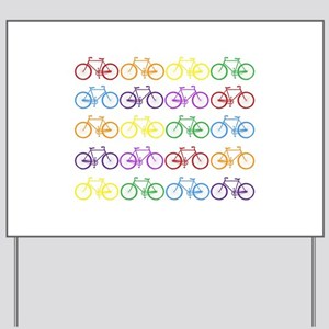 Rack O' Bicycles Yard Sign