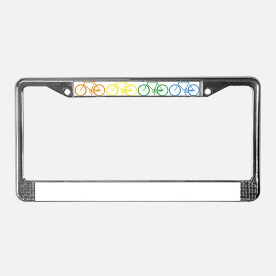 Rack O' Bicycles License Plate Frame