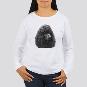 Black or Chocolate Poodle Long Sleeve T-Shirt