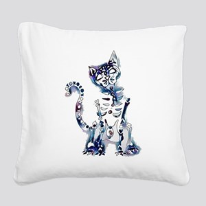 Sugar Skull Day of the Dead A Square Canvas Pillow
