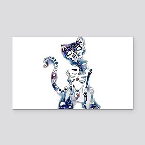 Sugar Skull Day of the Dead A Rectangle Car Magnet