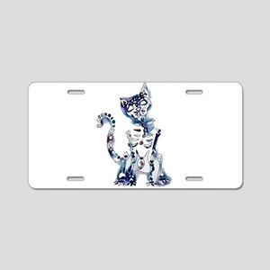 Sugar Skull Day of the Dead Aluminum License Plate