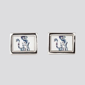 Sugar Skull Day of the Dead Rectangular Cufflinks