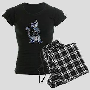 Sugar Skull Day of the Dead Women's Dark Pajamas