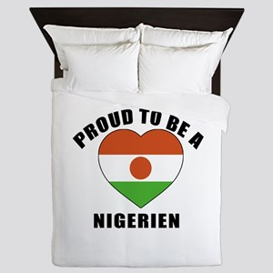 Nigerien Patriotic Designs Queen Duvet