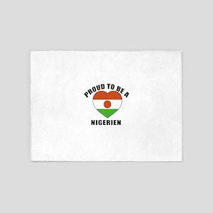 Nigerien Patriotic Designs 5'x7'Area Rug
