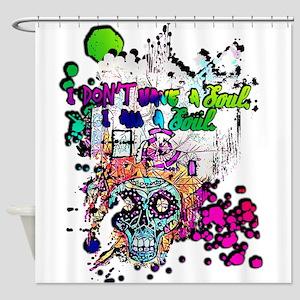 Sugar Skull Day of the Dead Artsy O Shower Curtain